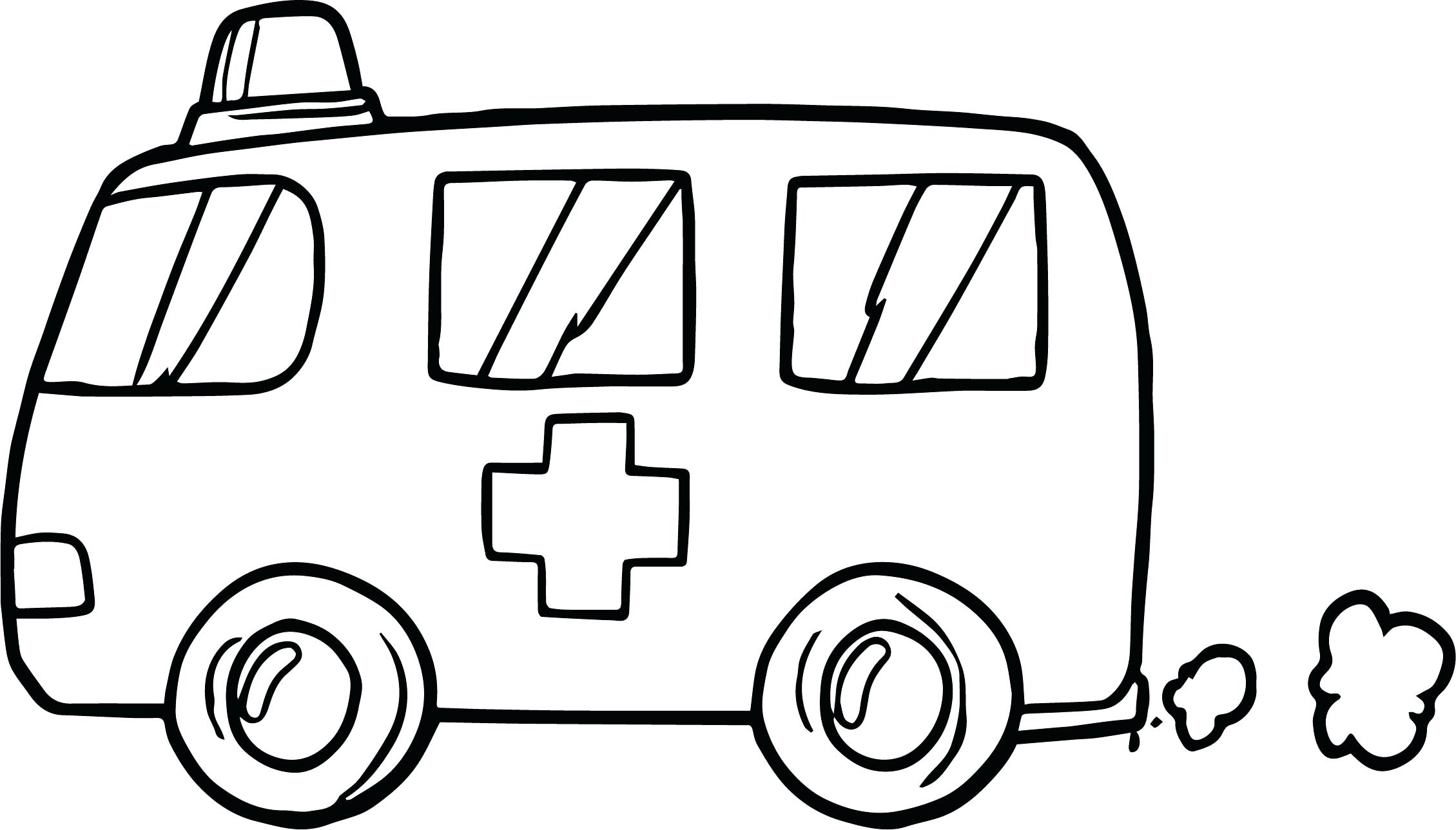 2259x1289 Ambulance Coloring Pages Printable. Cute Emergency Ambulance Car