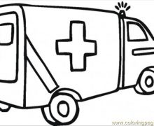 220x180 Ambulance Colouring Pages