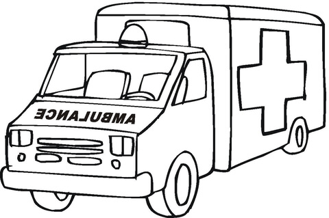 480x319 Ambulance Emergency Car Coloring Page Free Printable Coloring Pages