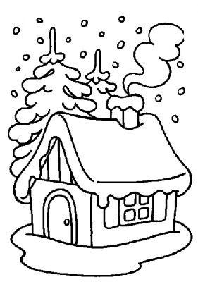 281x400 Coloring Page Winter