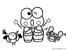 236x177 Keroppi Family (Hello Kitty) Kids' Coloring Pages