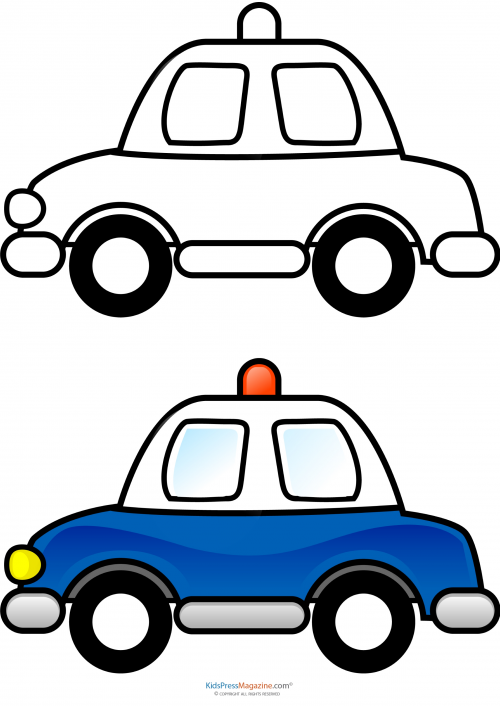 500x706 Match Up Coloring Pages Police Car Police Cars, Stress Relief