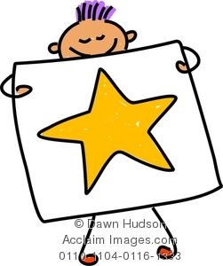 251x300 Clipart Image Happy Little Boy Holding Up His Painting