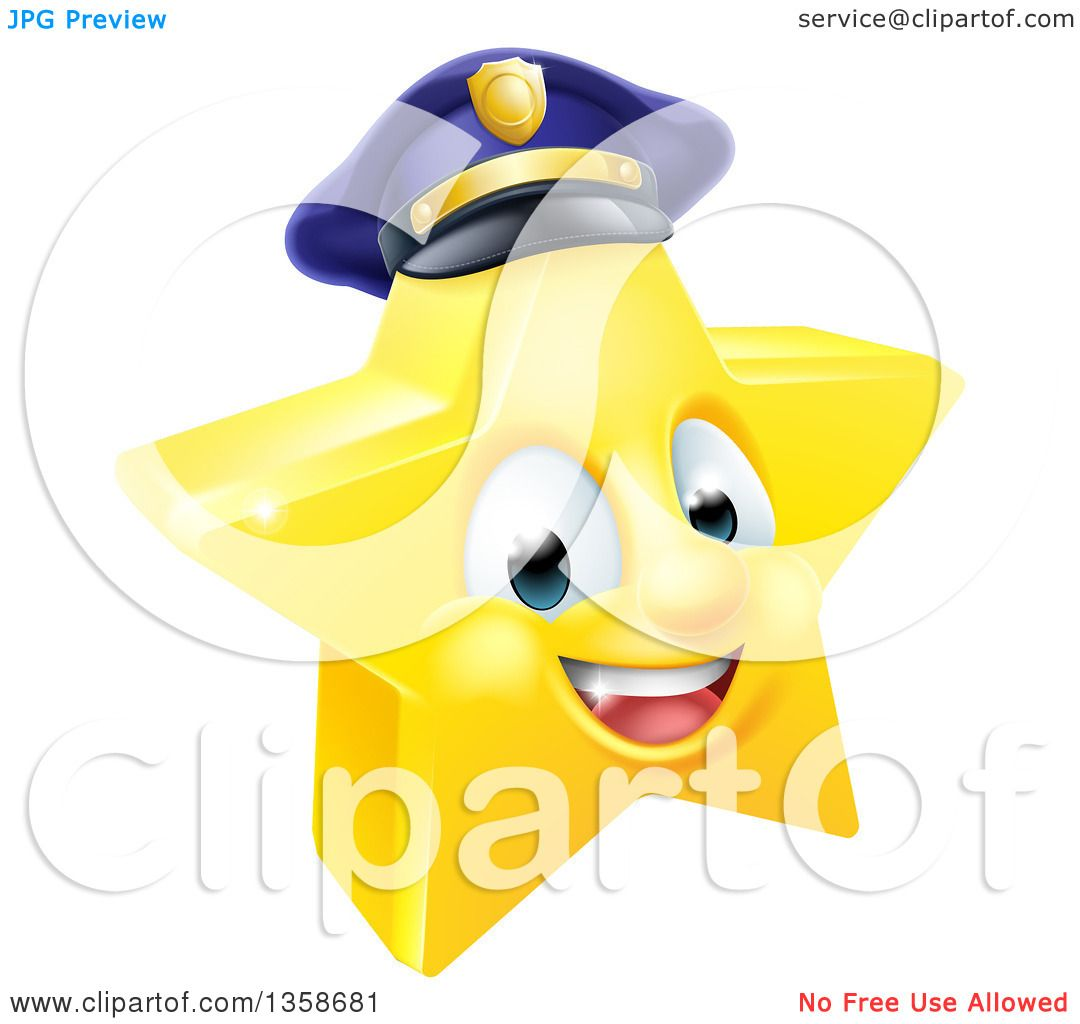 1080x1024 Clipart Of A 3d Happy Golden Police Office Star Emoji Emoticon