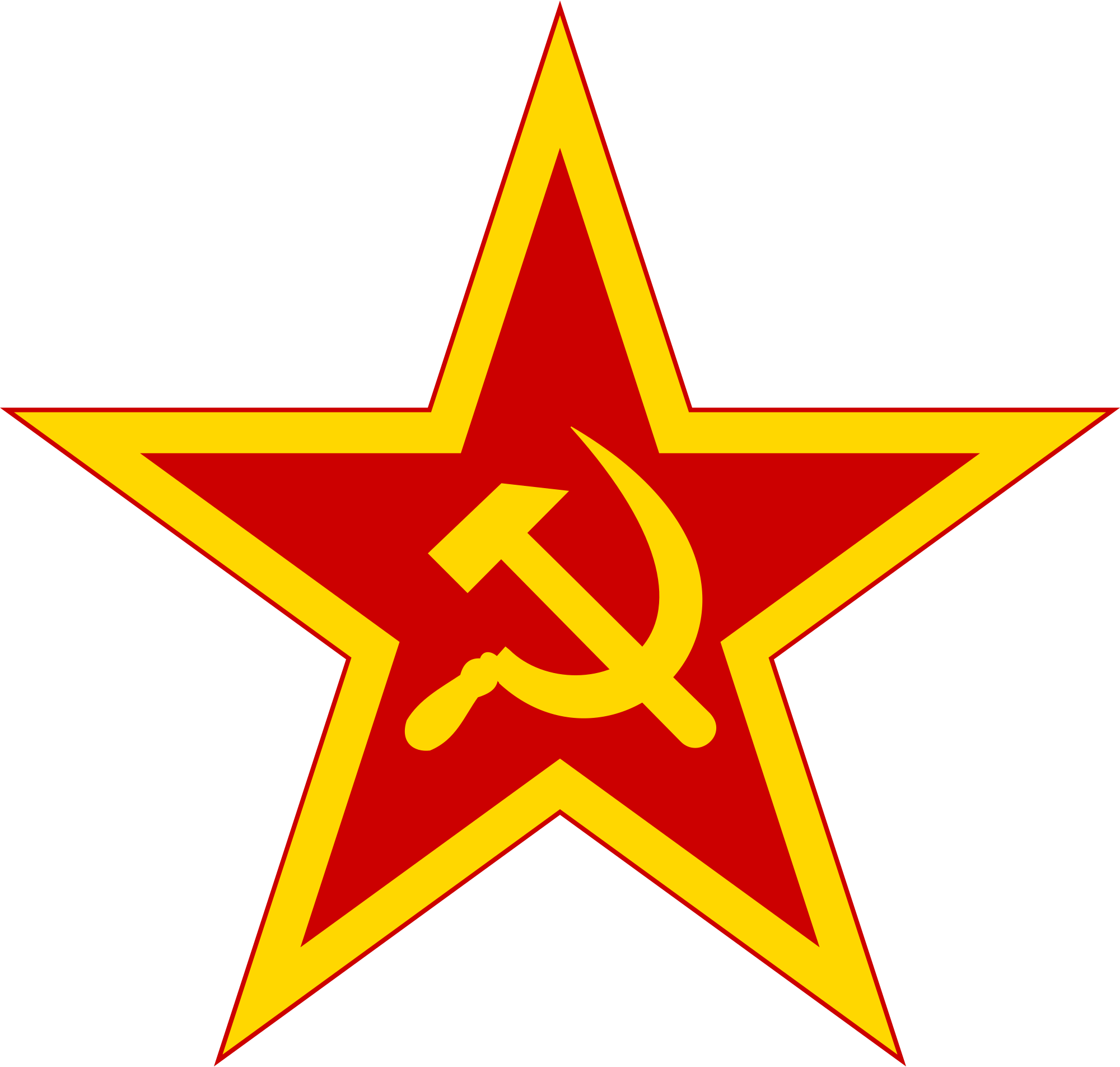 2000x1904 Filecommunist Star With Golden Border And Red Rims.svg