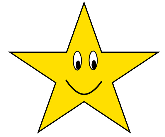 563x468 Golden Star Clip Art , Royalty