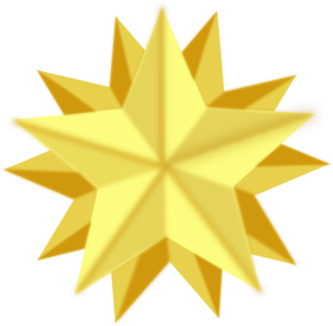 300x294 Golden Star Clip Art