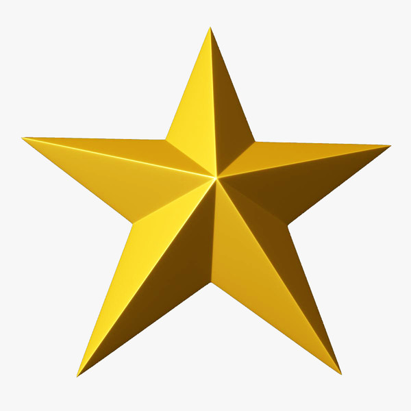 600x600 Large Gold Star Clipart