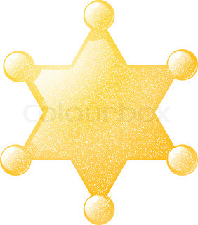 282x320 Cartoon Gold Star Sheriff Eps10 Stock Vector Colourbox