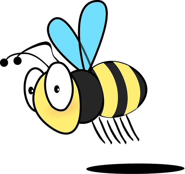 640x600 Animals, Honey, Cartoon, Caterpillar, Bugs, Bee, Flying