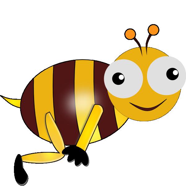 600x601 Bumble Bee Smiling Clip Art