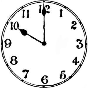 300x300 Clipart Of A Clock