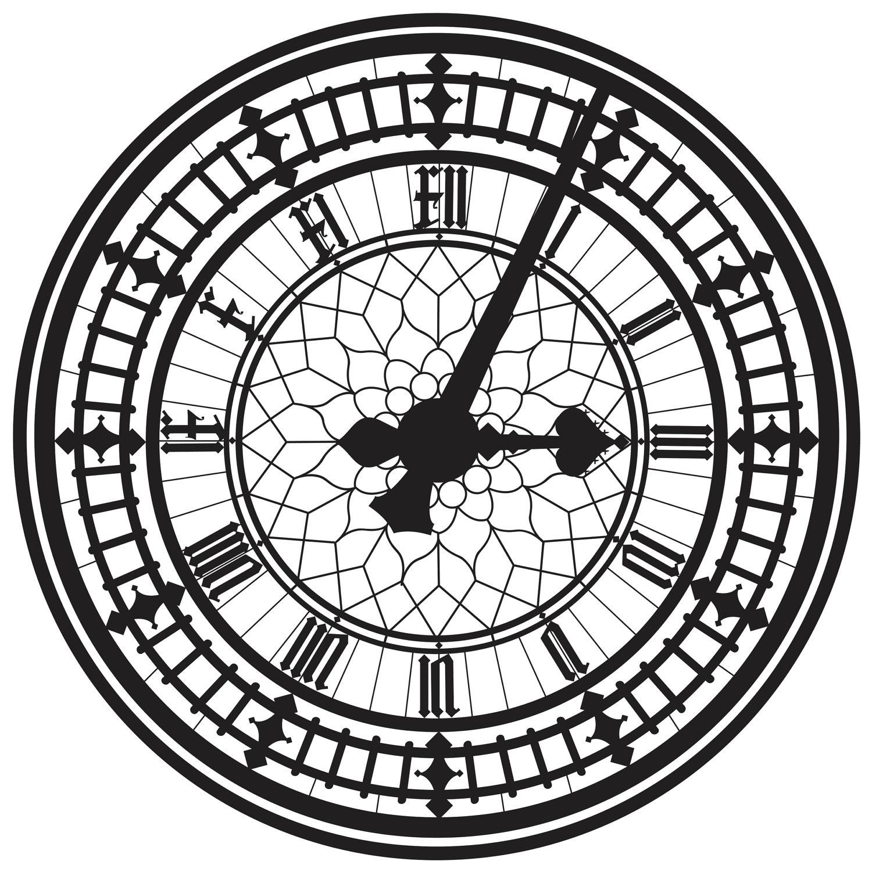 1500x1500 Drawn Clock Clock Face