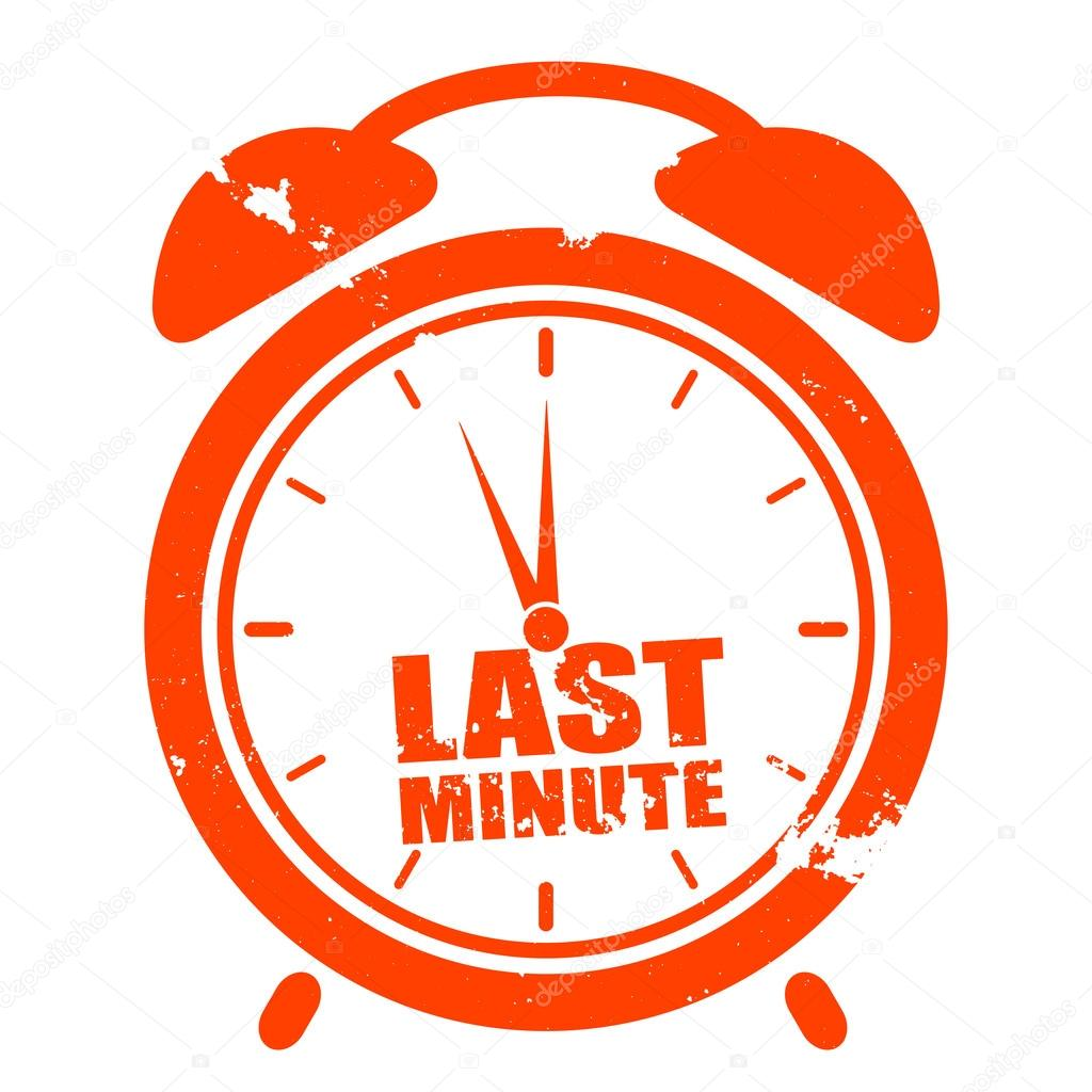 1024x1024 Clock Last Minute Stock Vector Unkreatives