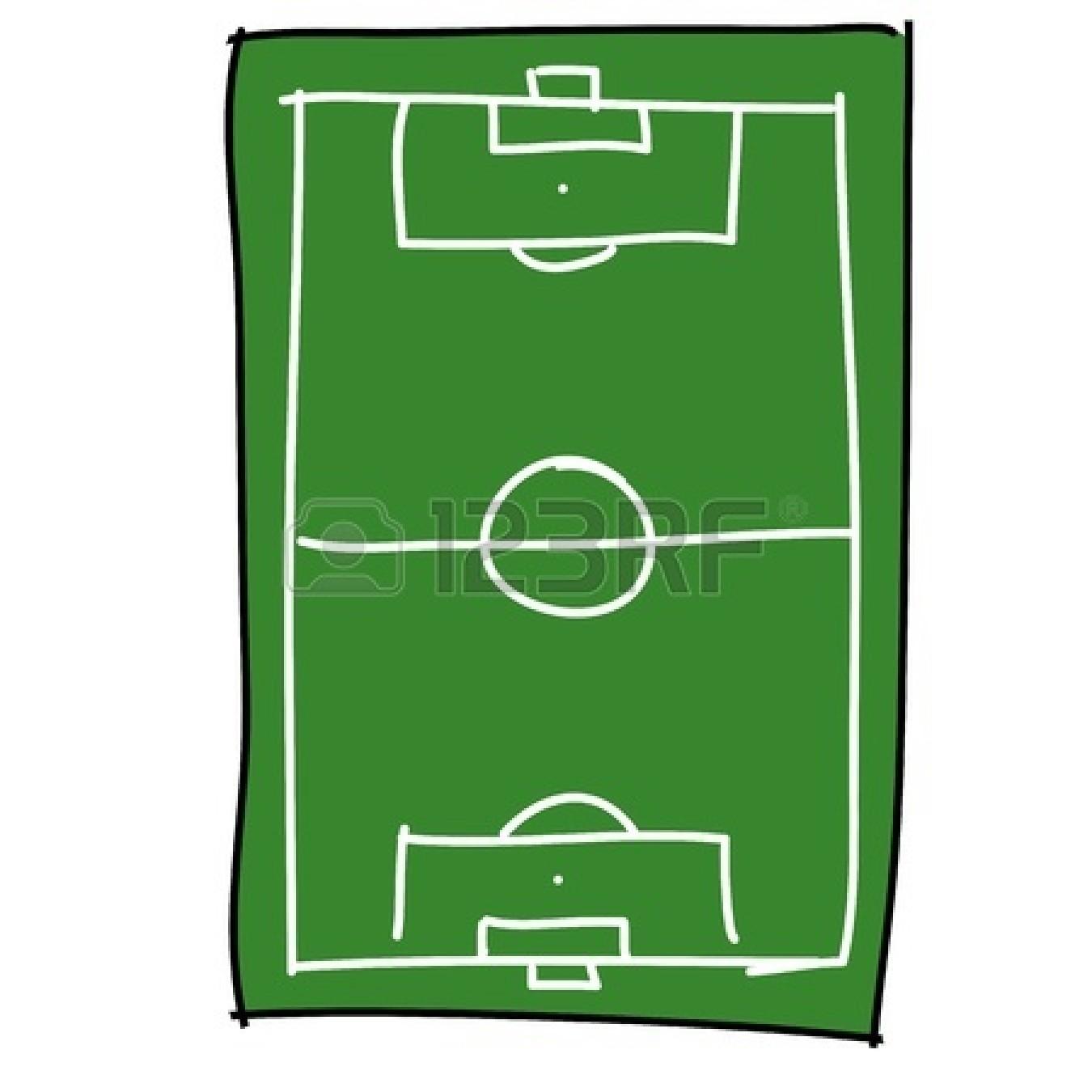 1350x1350 Cartoon Football Field Clip Art