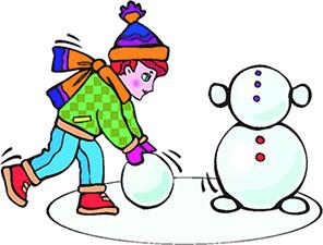 296x225 Free Snowman Clipart