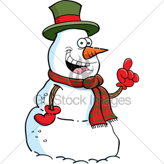 325x325 Pointing Snowman Gl Stock Images