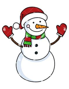 236x304 A Cute Snowman With Hat And Christmassy Scarf Royalty Free Stock