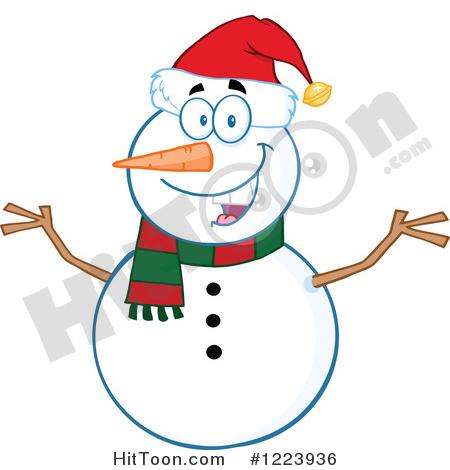 450x470 Snowman Clipart