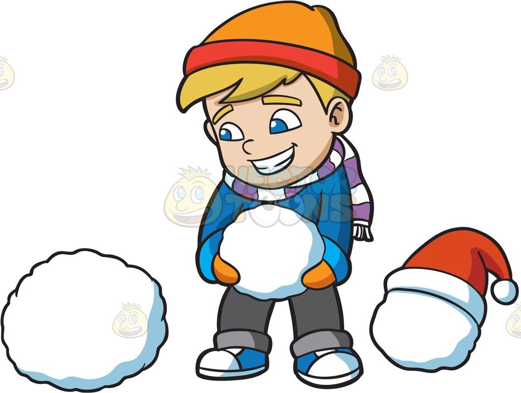 1024x773 Snowman Clipart Boy