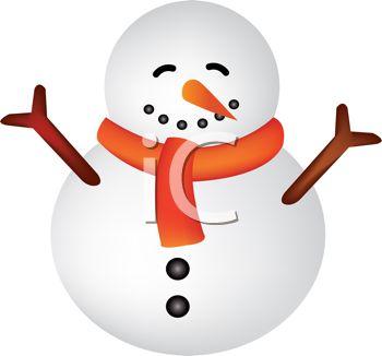 350x326 Snowman Clipart Chubby