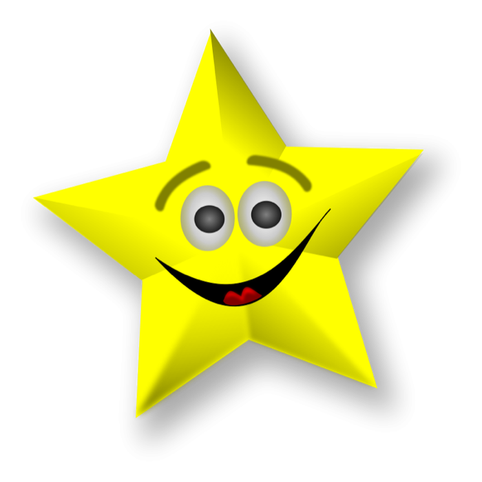 700x699 Shooting Star Clipart Smiling Star