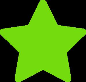 298x285 Star Green Clip Art