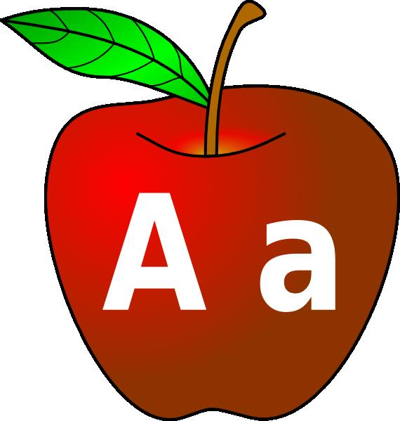 570x599 Apple With A A Clip Art