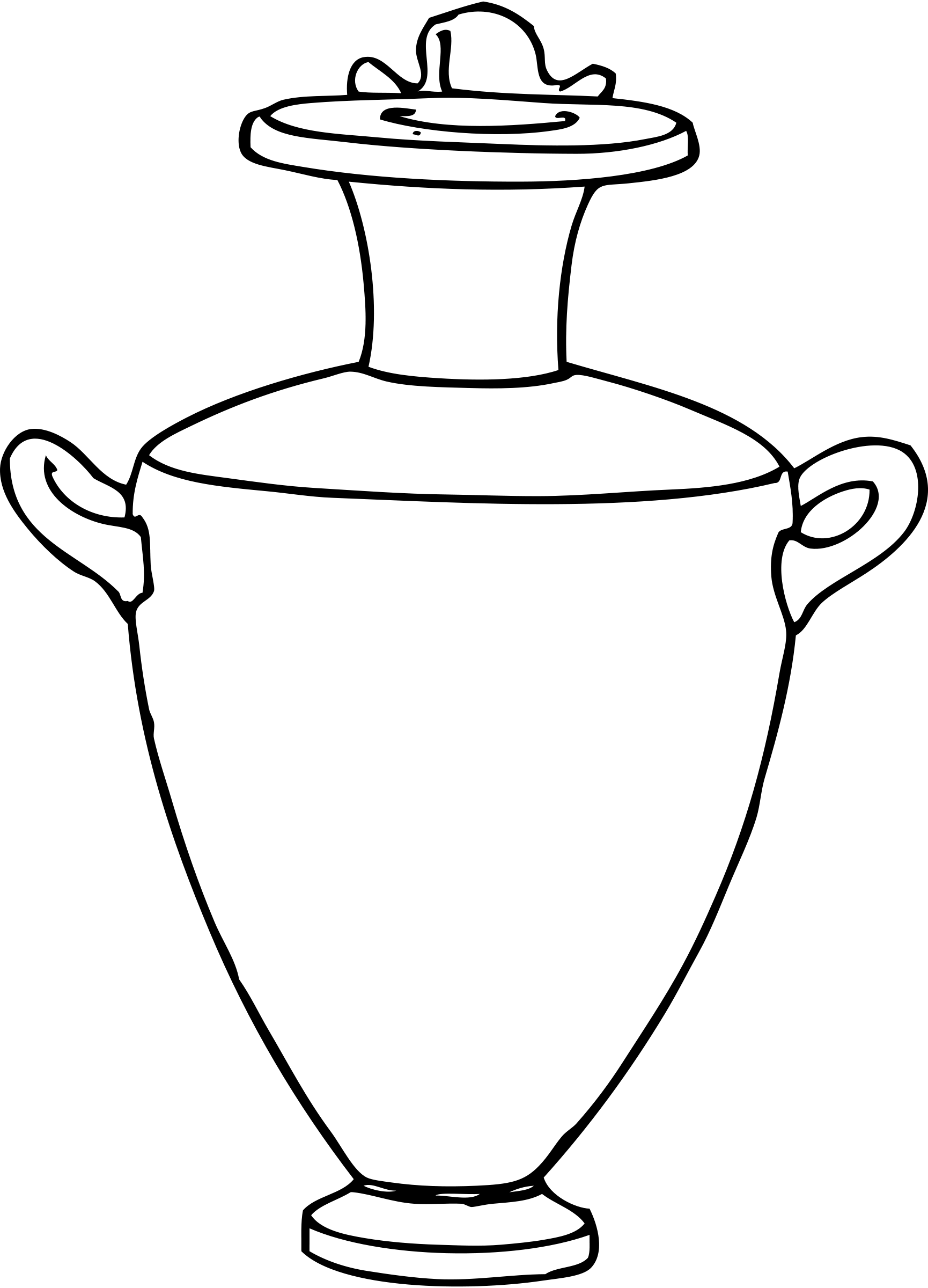 1730x2400 Clip Art Black And White Vase Clipart