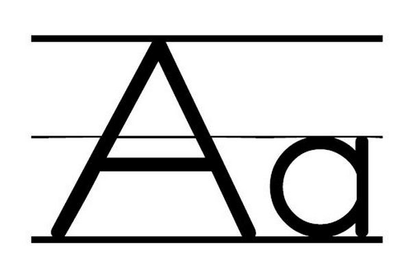 600x402 Clipart Of Letter Aa