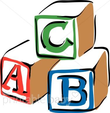 377x388 Colorful Abc Blocks Clipart Baby Blocks Clipart