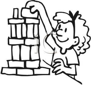 300x279 Building Blocks Clipart Black And White