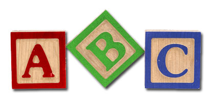 414x198 Image Of Abc Blocks Clipart