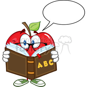300x300 Royalty Free 5773 Royalty Free Clip Art Smiling Apple Teacher