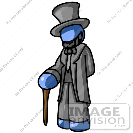 450x450 Clip Art Graphic Of A Blue Guy Character Dressed As Abraham