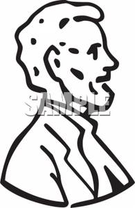 195x300 Clipart Of Outlined Abraham Lincoln