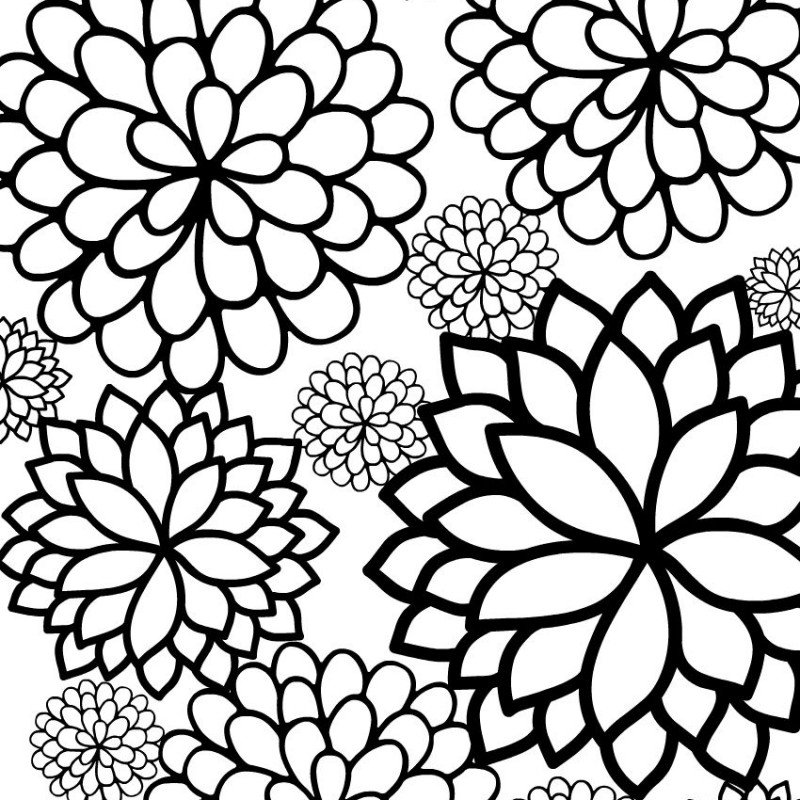 medium daisy flower coloring pages - photo#35