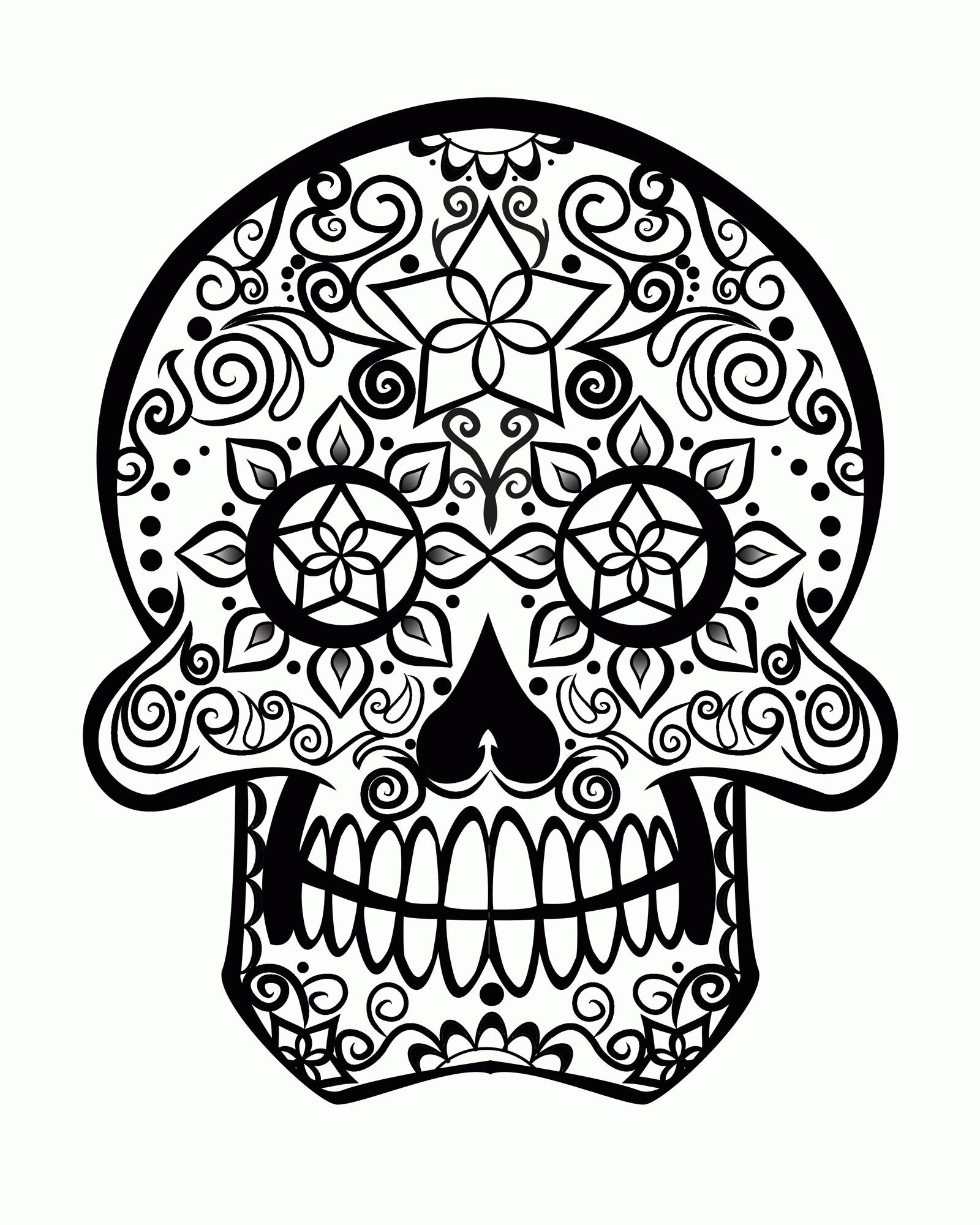 1600x2000 Abstract Skull Coloring Pages Coloring Sheets