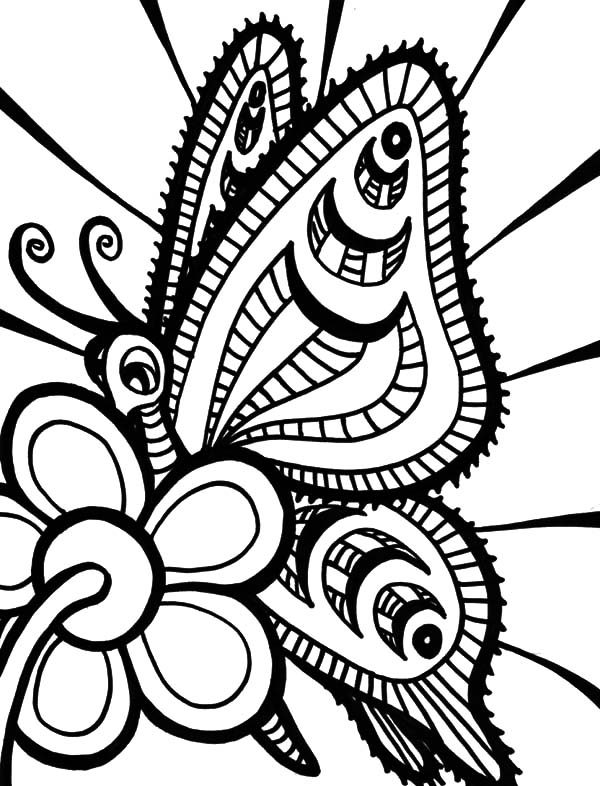 600x786 Butterfly Abstract Coloring Pages Coloring Sky