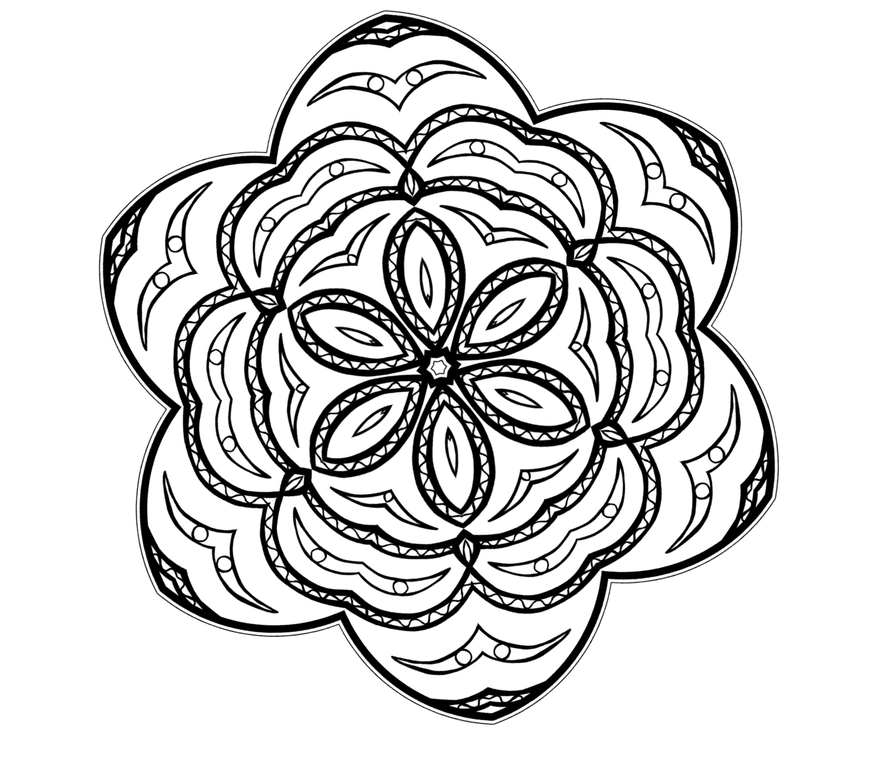 Abstract Coloring Pages | Free download on ClipArtMag