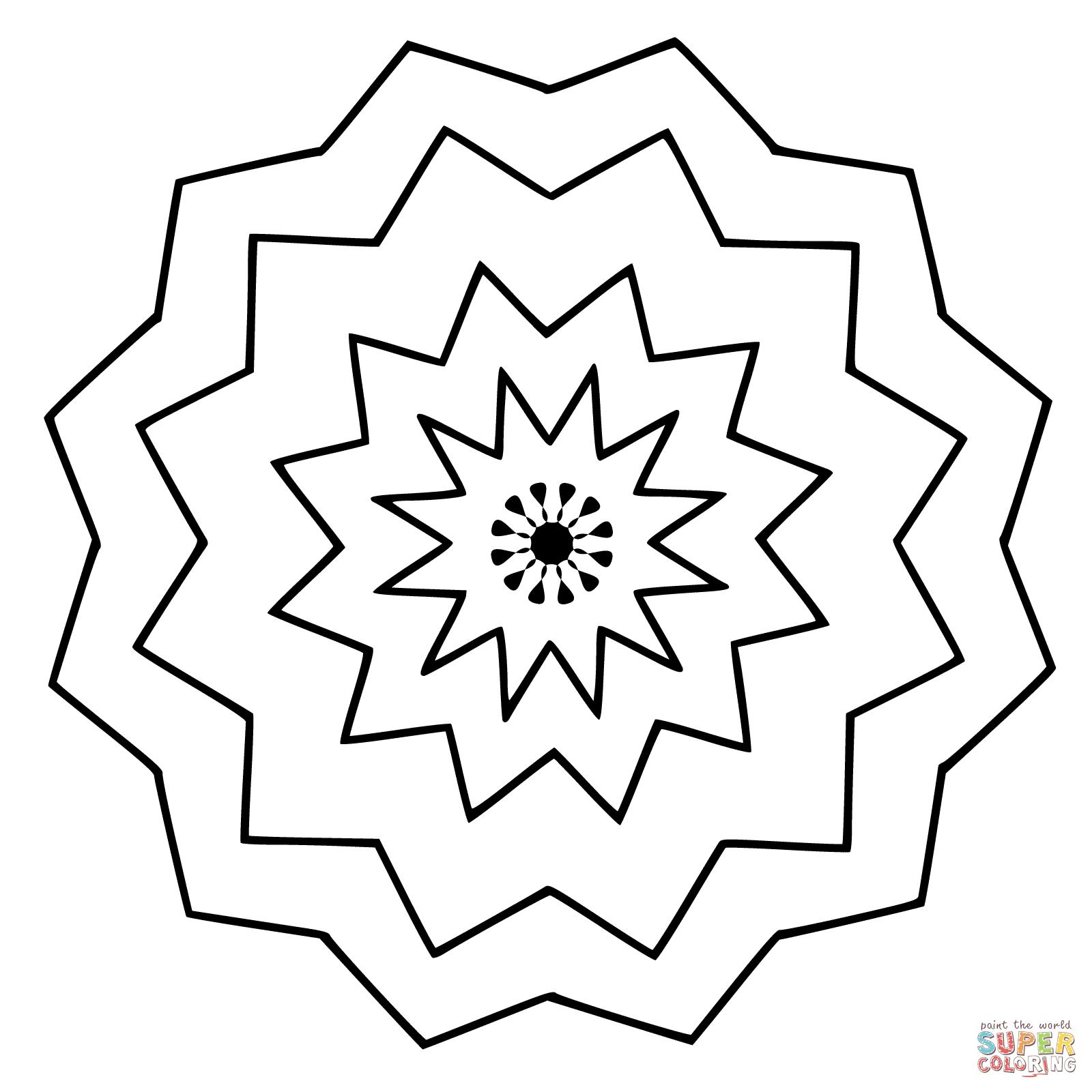 1600x1601 Simple Abstract Coloring Pages Simple Colorings