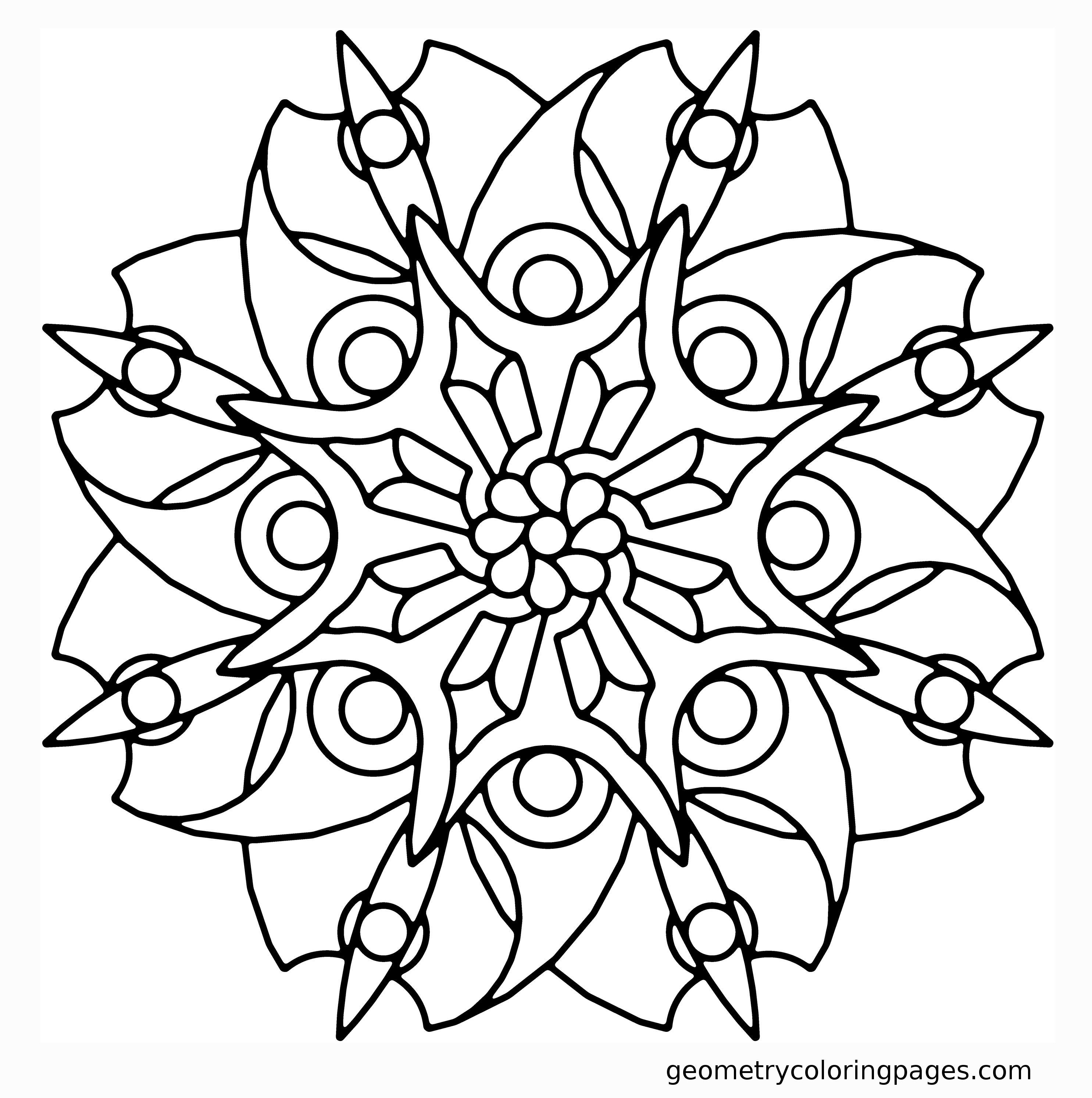 2970x2987 Blade Flower Geometry Coloring Pages Coloring