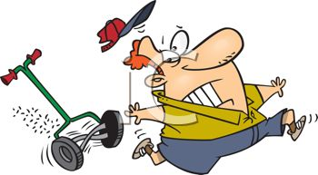 350x193 Cartoon Of A Guy Being Attacked By His Lawnmower