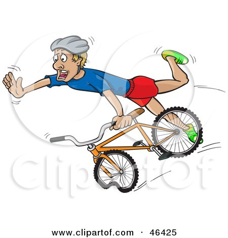 450x470 Royalty Free (Rf) Clipart Illustration Of A Surprised Cyclists
