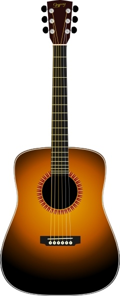 240x591 Acoustic Guitar Clip Art Free Vector In Open Office Drawing Svg