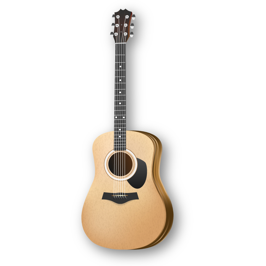 900x900 Acoustic Guitar Clipart Download Free Vector Art