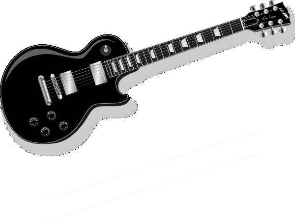 600x452 Black Guitar Clip Art