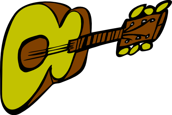 555x372 Guitar Clipart Comic