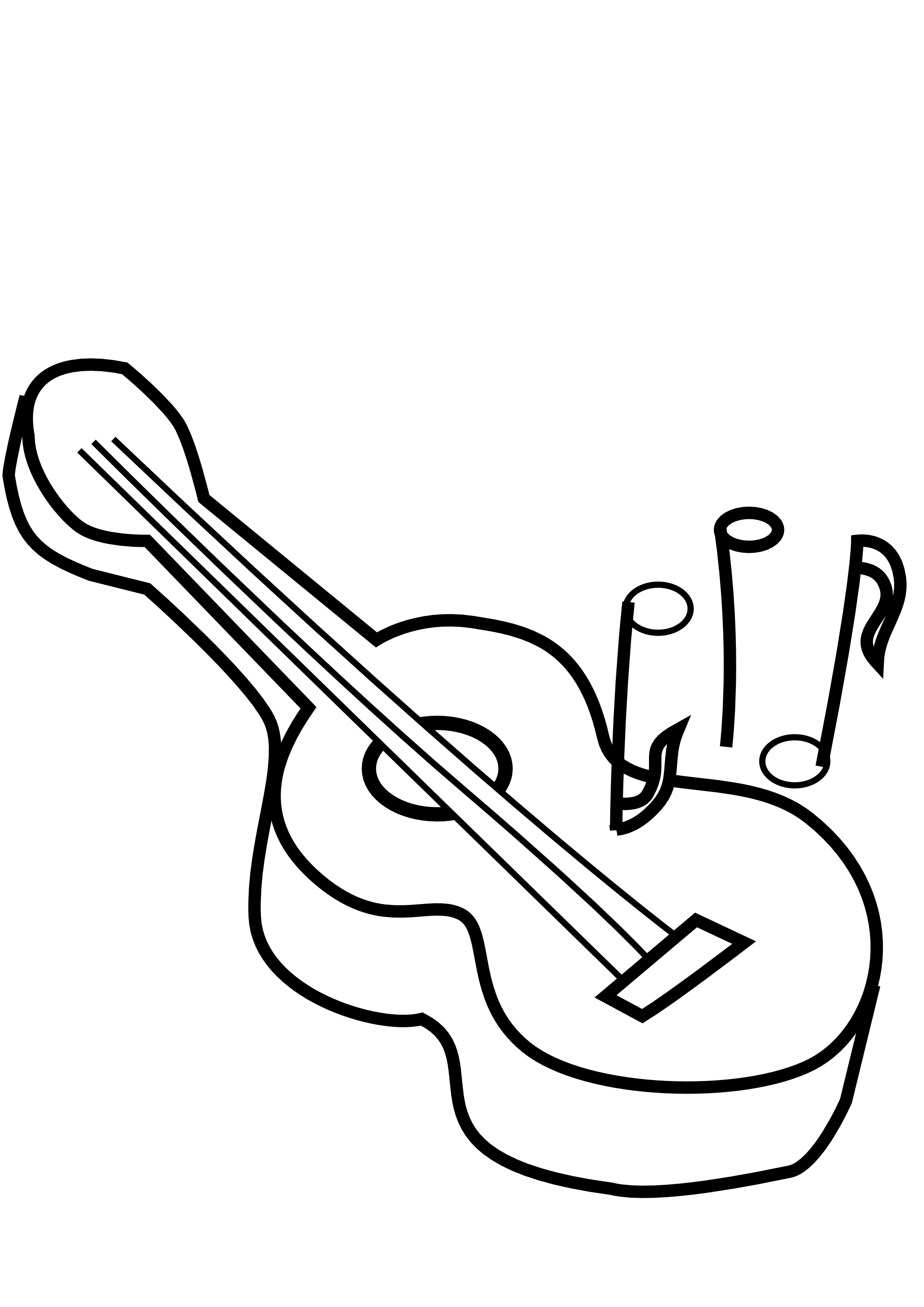 1979x2799 Surprising Black And White Guitar Clip Art With Guitar Coloring