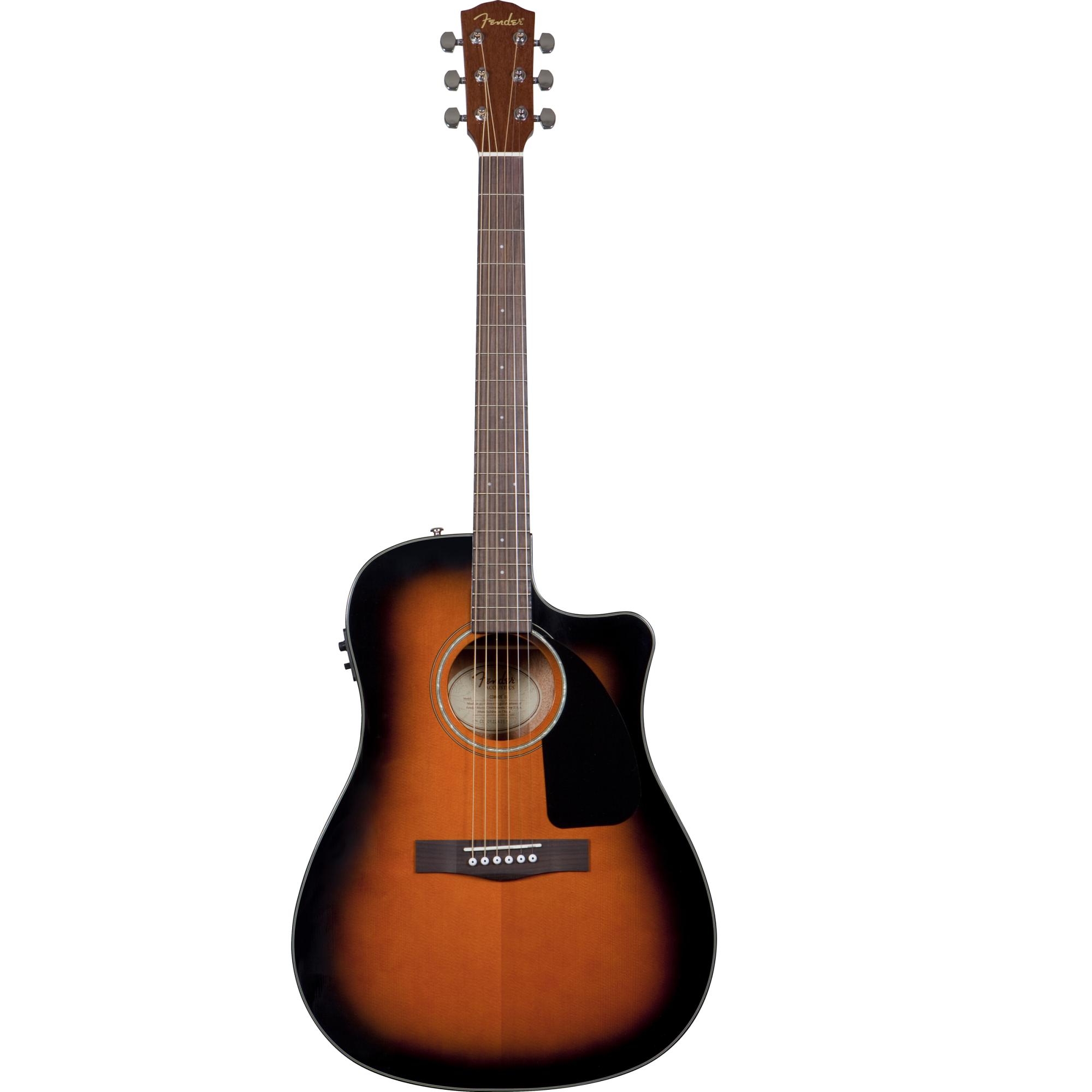 2000x2000 Fender Cd 60 Acousticelectric Guitar Sun Burst Spectra Music
